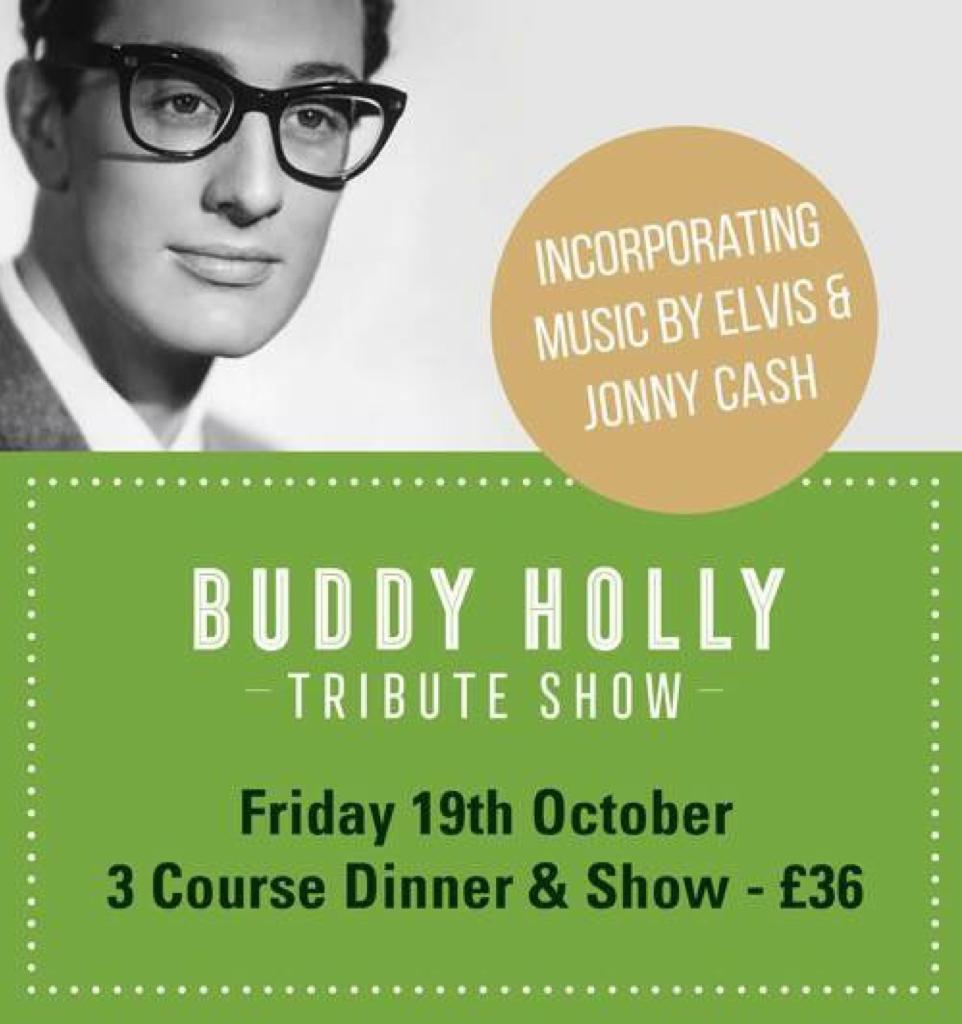 BUDDY HOLLY Tribute SHOW (incorporating music by Elvis & Johnny) 7